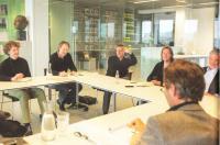 Discussie op kantoor BNA