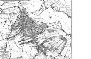 Kaart Amsterdam 17e eeuw