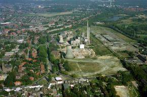 Luchtfoto sloop Staatsmijn Emma ca. 1985